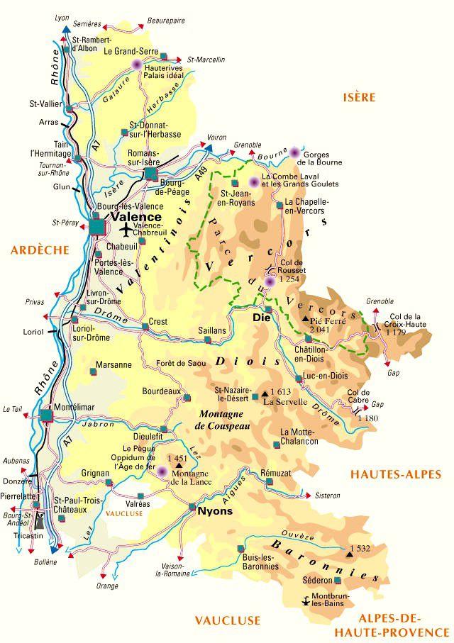 Carte de la Drôme - Politique