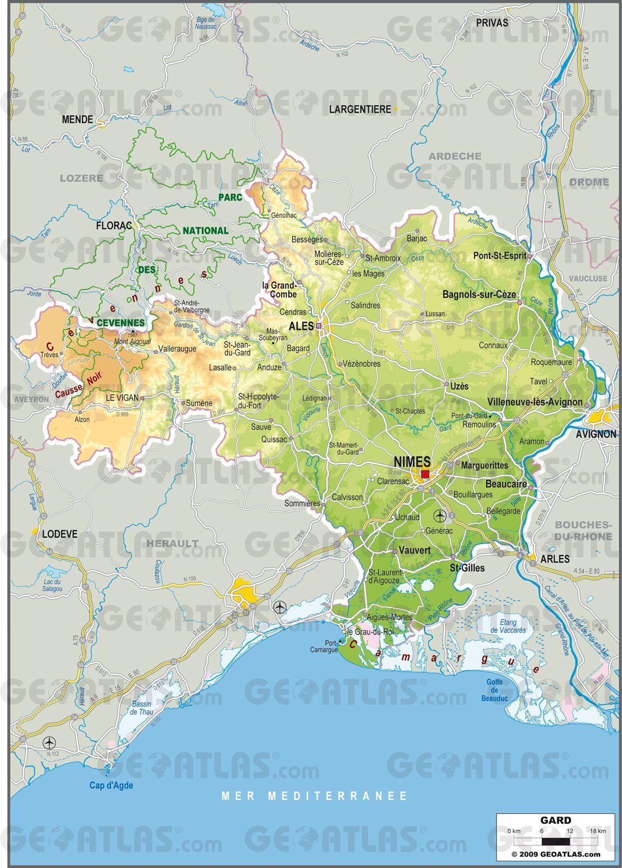 Carte du Gard - Politique