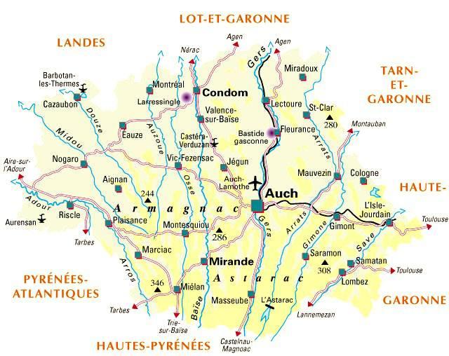 Carte du Gers - Politique