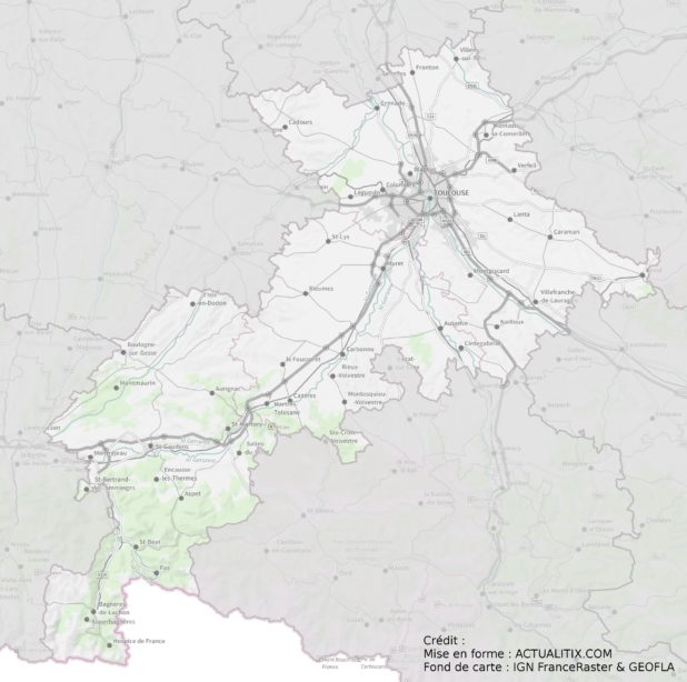 Carte de Haute-Garonne