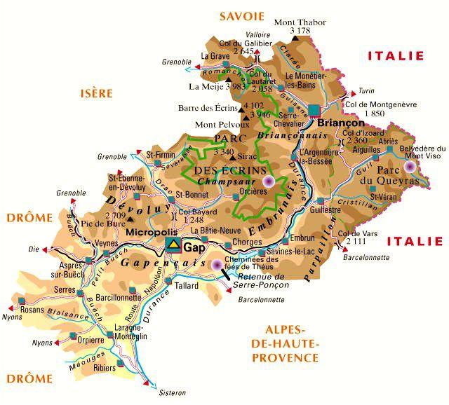 Carte des Hautes-Alpes - Politique