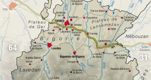 Carte des Hautes-Pyrénées