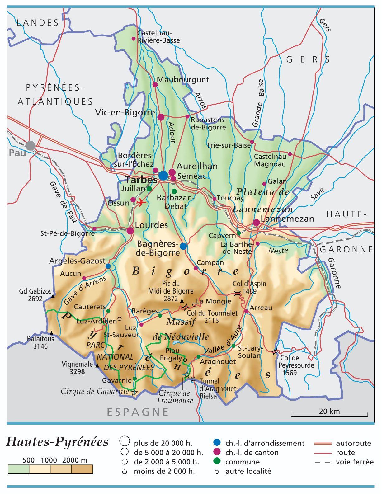 carte-hautes-pyrenees-65