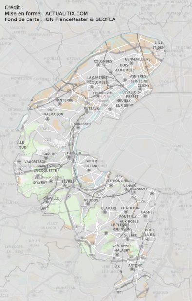 Carte des Hauts-de-Seine