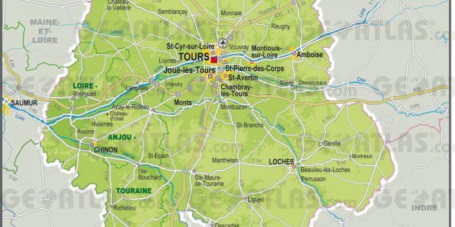 Carte de l'Indre-et-Loire - Indre-et-Loire carte du département 37
