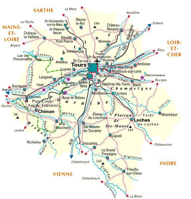 Carte de l'Indre-et-Loire - Politique