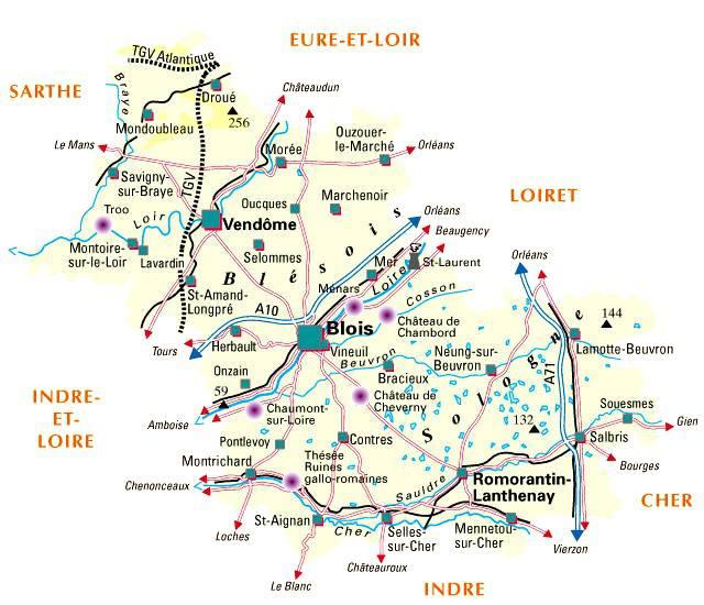 Carte du Loir-et-Cher - Politique