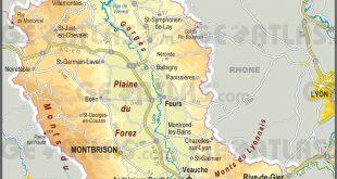 Carte de la Loire (département 42)