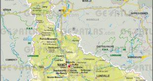 Carte de la Meurthe-et-Moselle