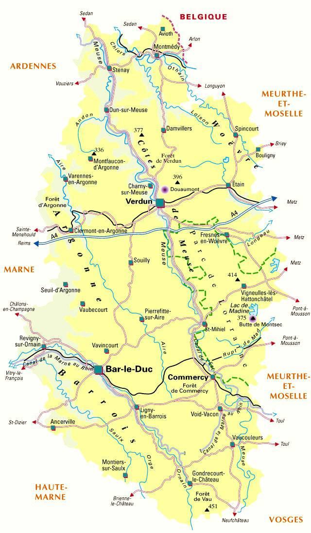 Carte de la Meuse - Politique