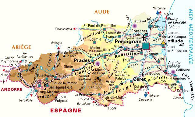 Carte des Pyrénées-Orientales - Politique
