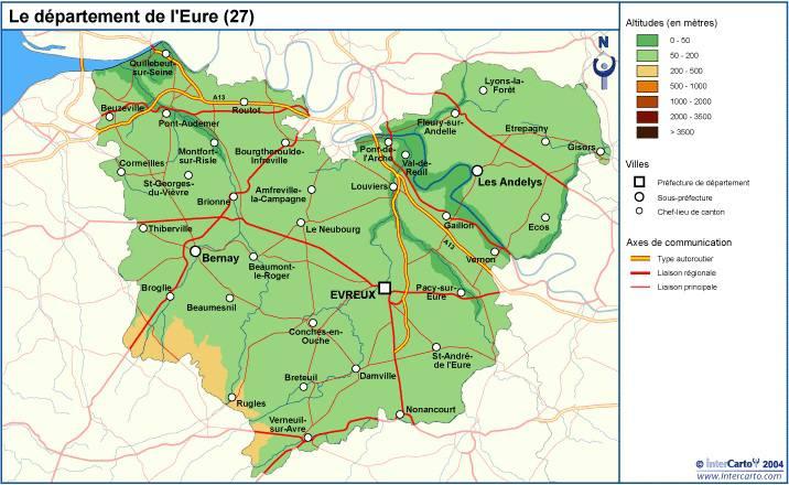 Plan Centre Ville Le Neubourg
