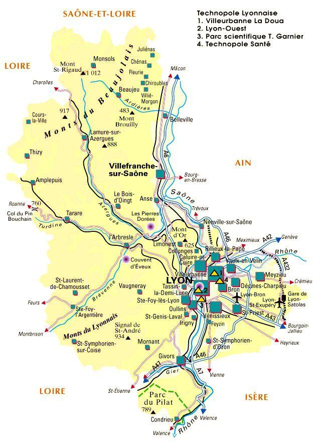 Carte du Rhône - Politique