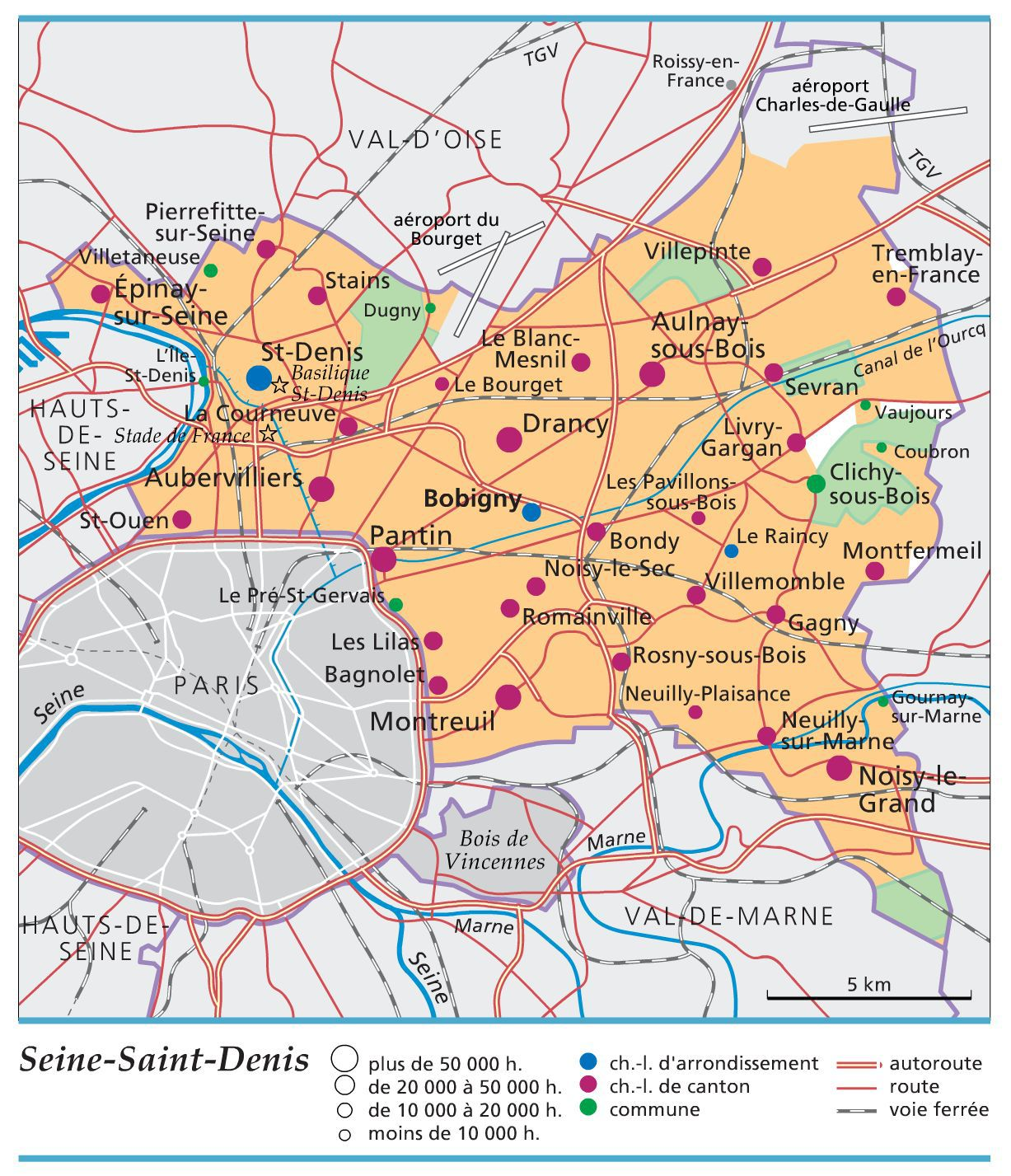 Carte de la Seine-Saint-Denis