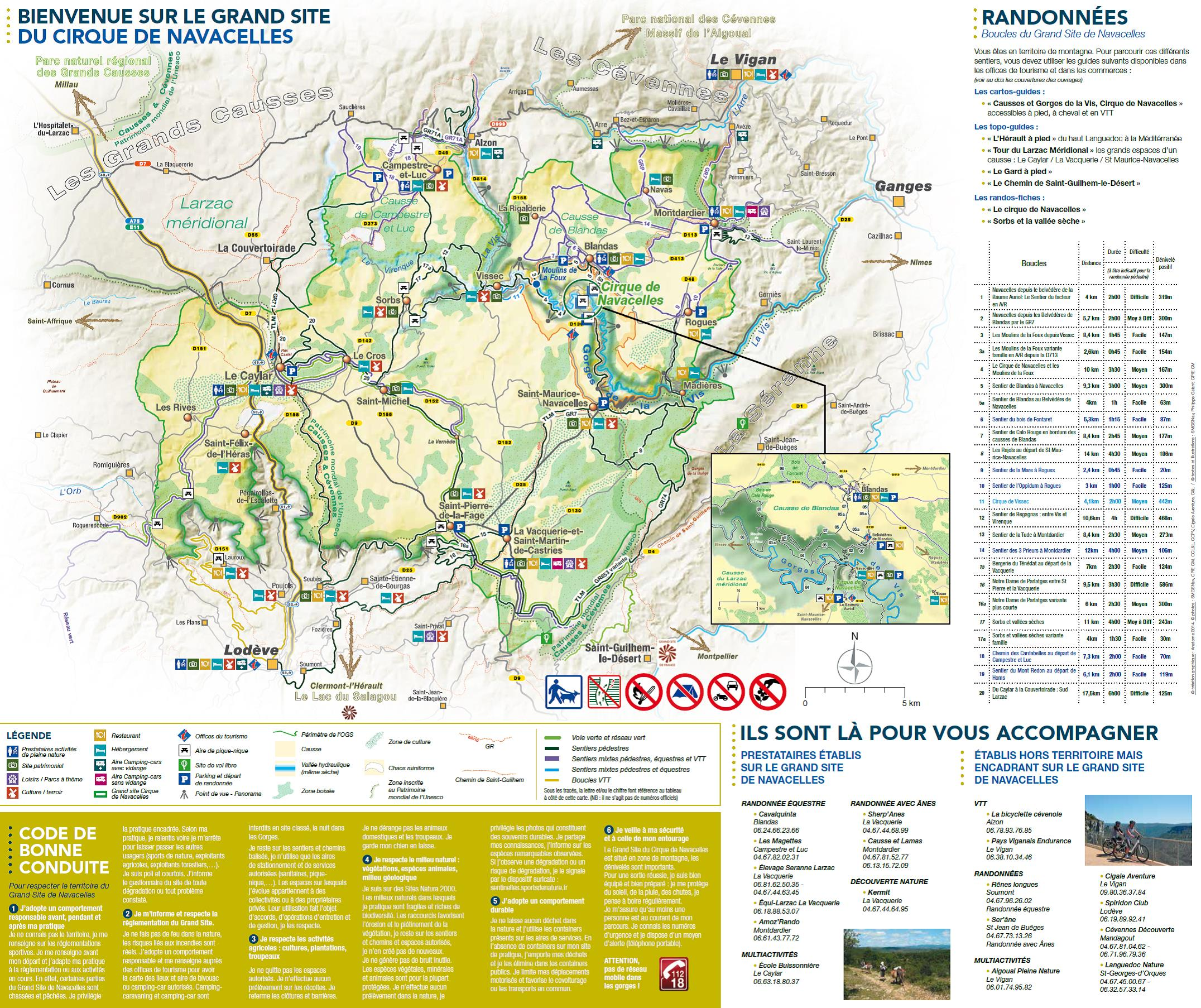 Carte des sites touristiques du Gard