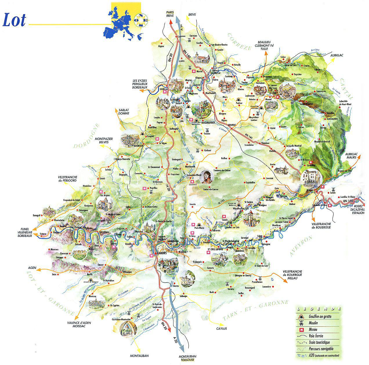 carte du lot - Image