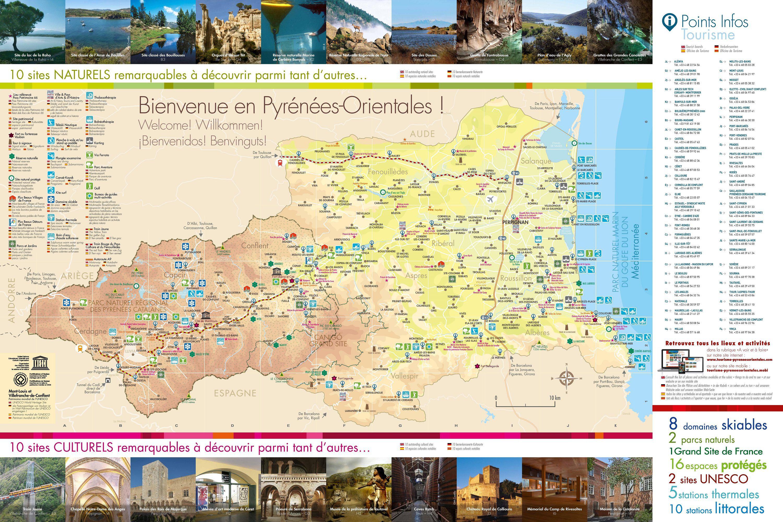 Info carte touristique pyrenees orientales for Site touristique france