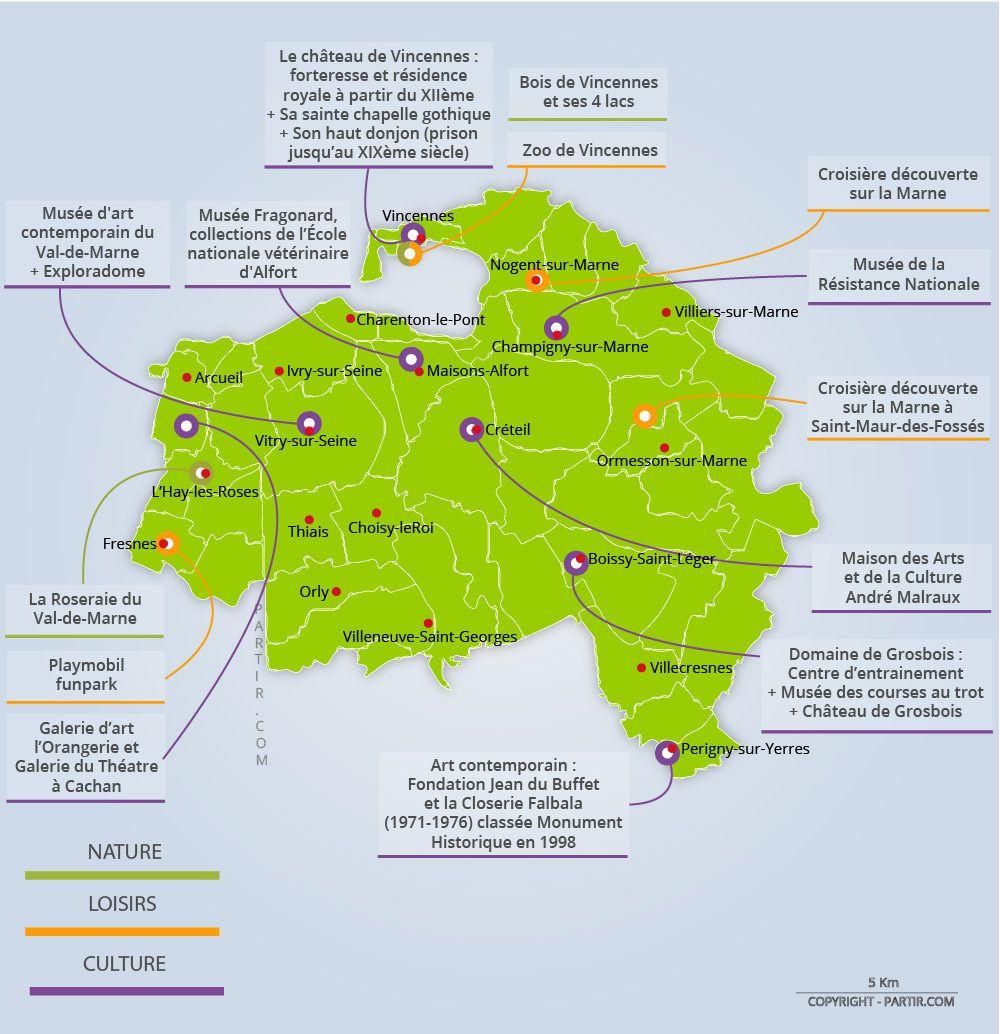 Carte Val De Marne Villes