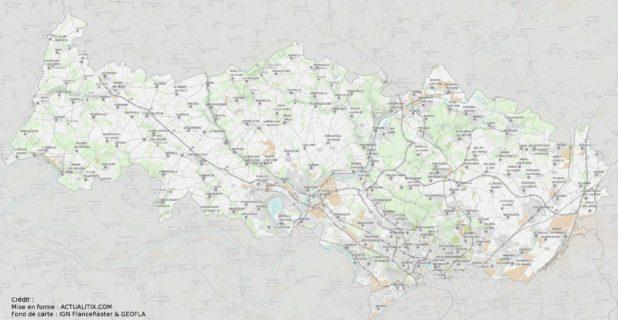 Carte du Val-d'Oise