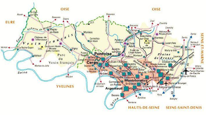 Carte du Val-d'Oise - Politique