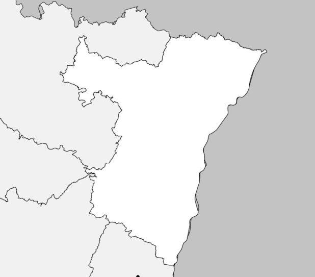 Carte vierge du Bas Rhin