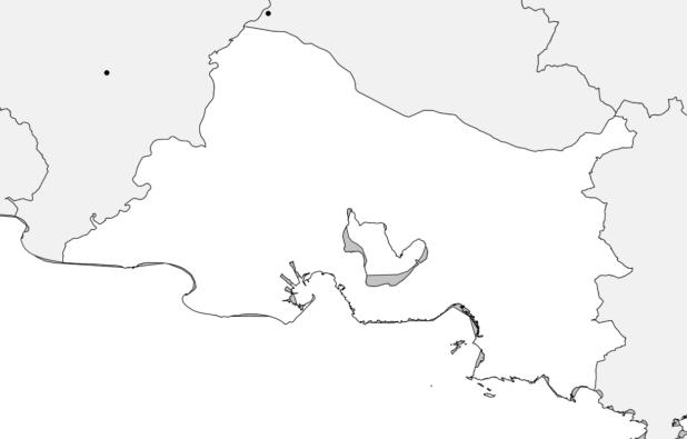 Carte vierge des Bouches-du-Rhône