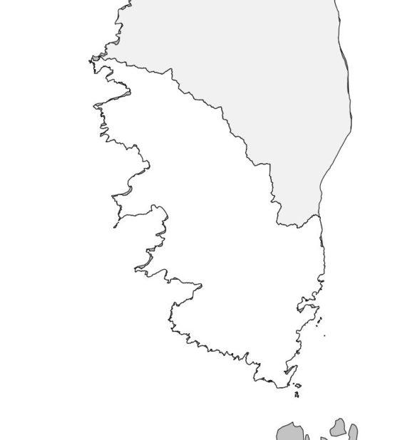 Carte vierge de la Corse du Sud