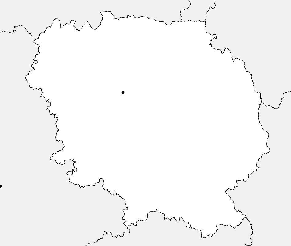 Carte vierge de la Creuse