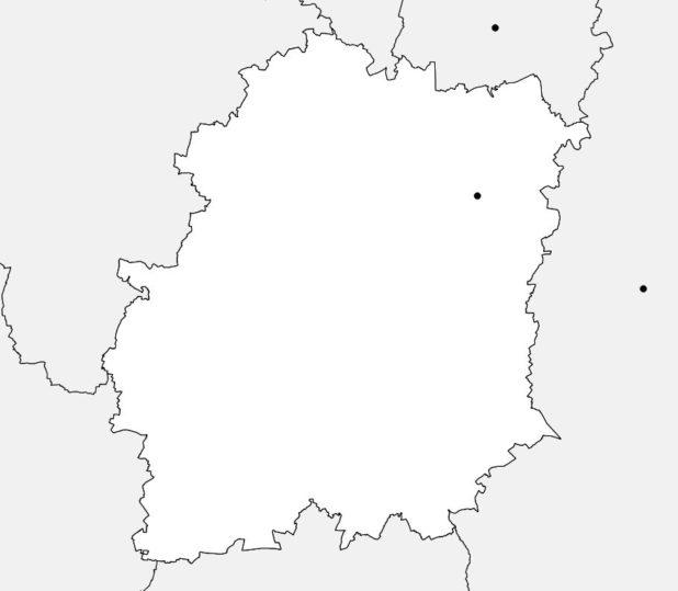 Carte vierge de l'Essonne