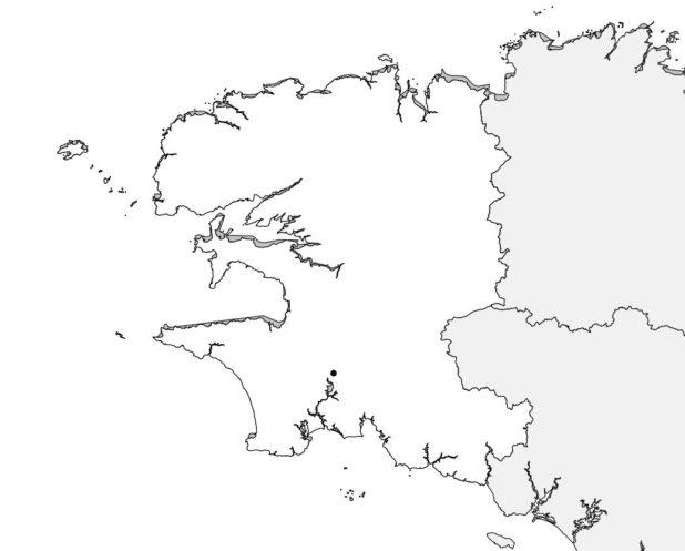 Carte vierge du Finistère