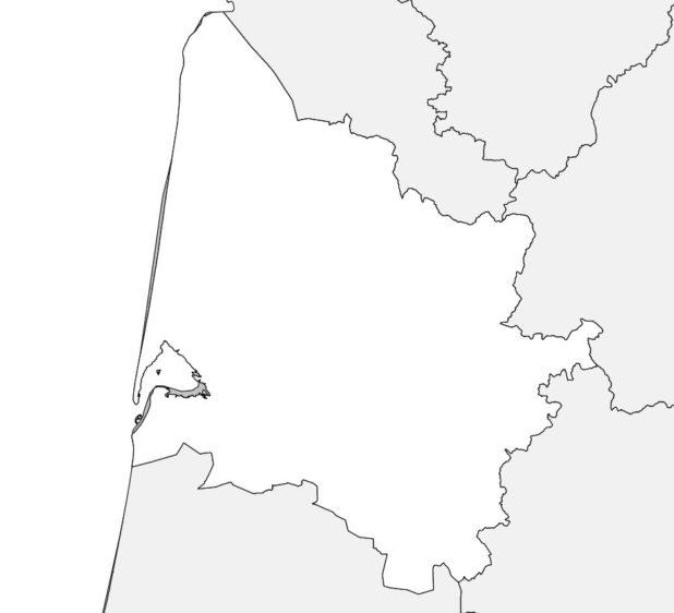 Carte vierge de la Gironde