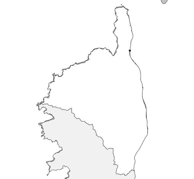 Carte vierge de la Haute Corse