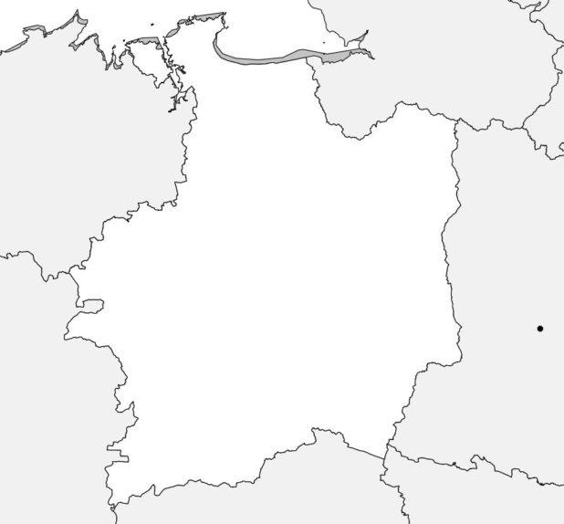 Carte vierge de l'Ille-et-Vilaine