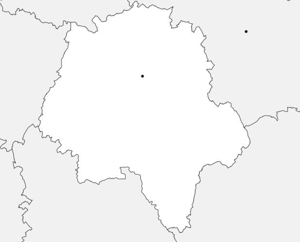 Carte vierge de l'Indre-et-Loire