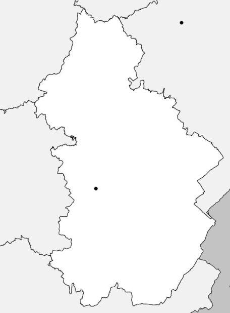 Carte vierge du Jura