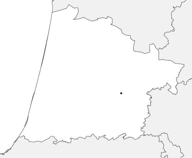Carte vierge des Landes