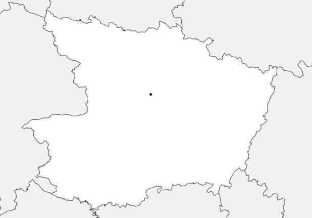 Carte vierge du Maine-et-Loire