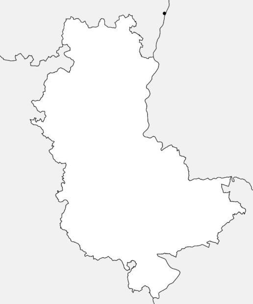 Carte vierge du Rhône
