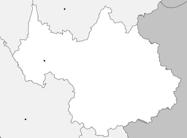 Carte vierge de la Savoie
