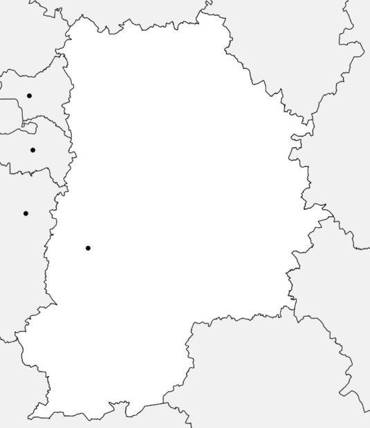 Carte vierge de la Seine et Marne