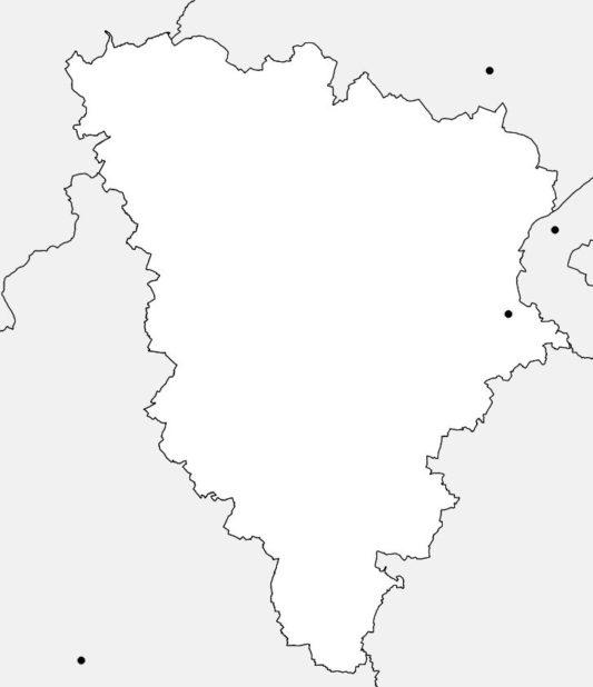 Carte vierge des Yvelines