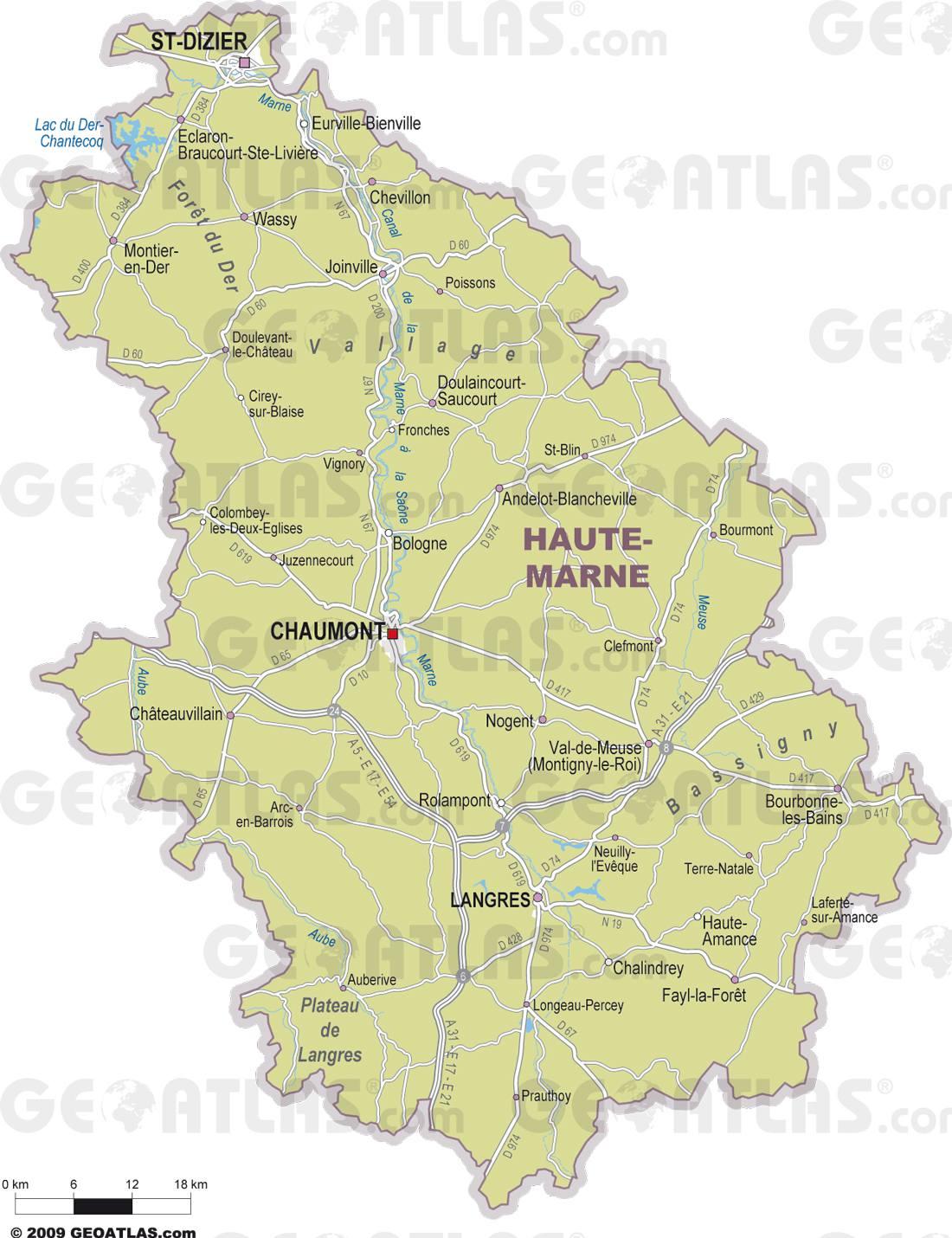 Carte de la haute marne haute marne carte du d partement 52 for 52 haute marne