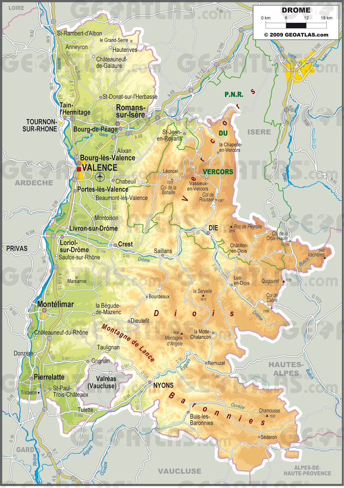 Drôme carte