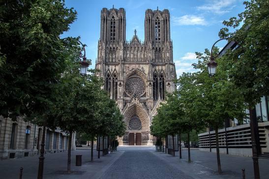 Façade Cathédrale Notre-Dame de Reims
