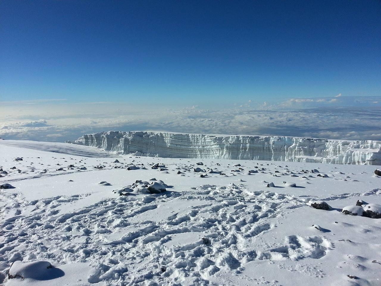 Glacier sur le mont Kilimandjaro