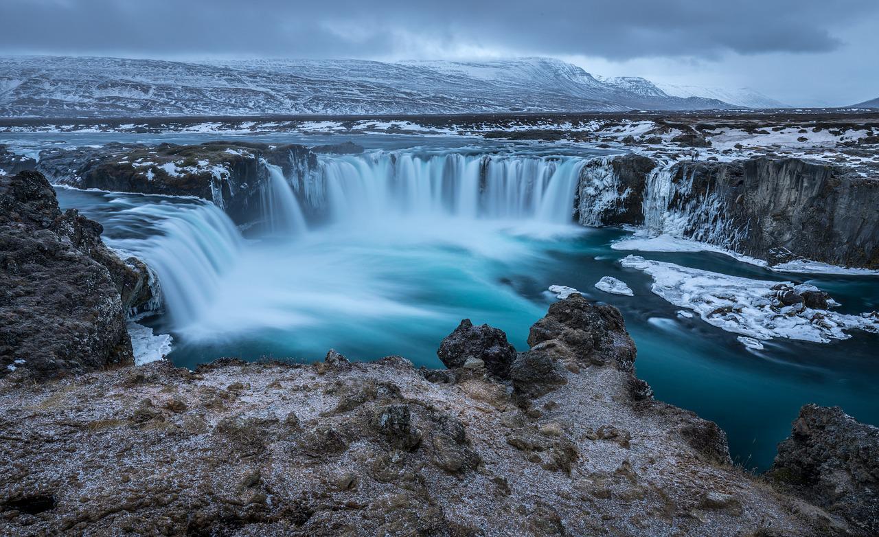 Godafoss (Goðafoss) dans les plus beaux paysages en Islande