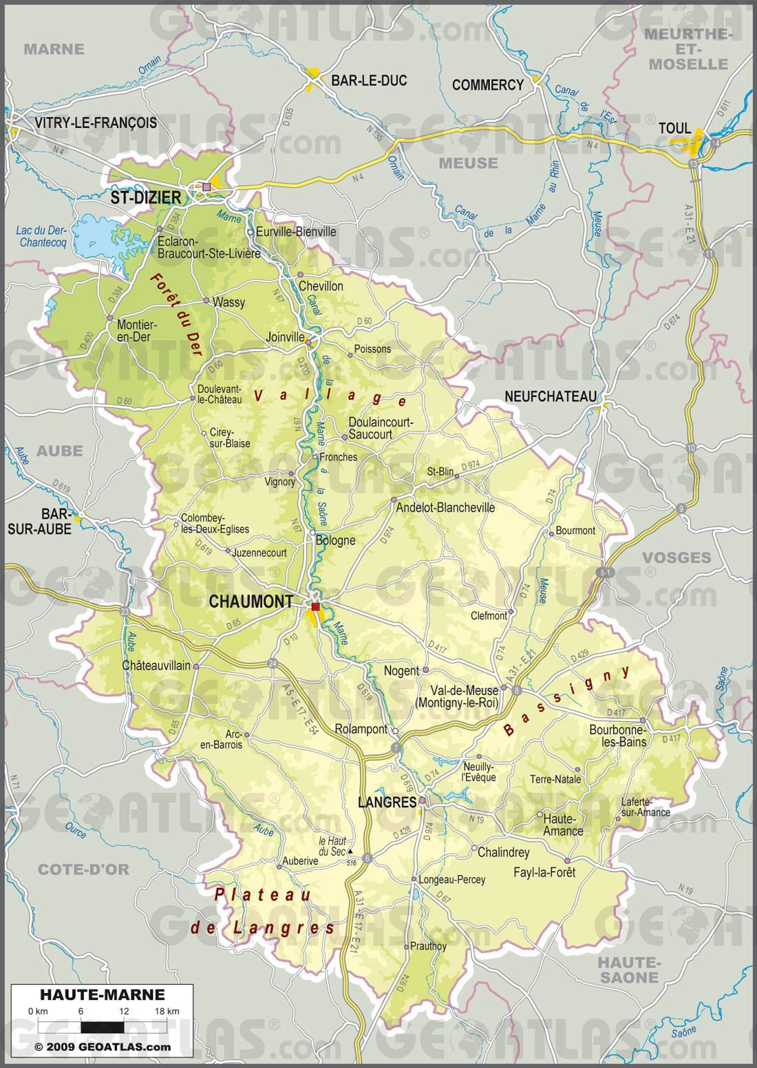 Haute-Marne carte