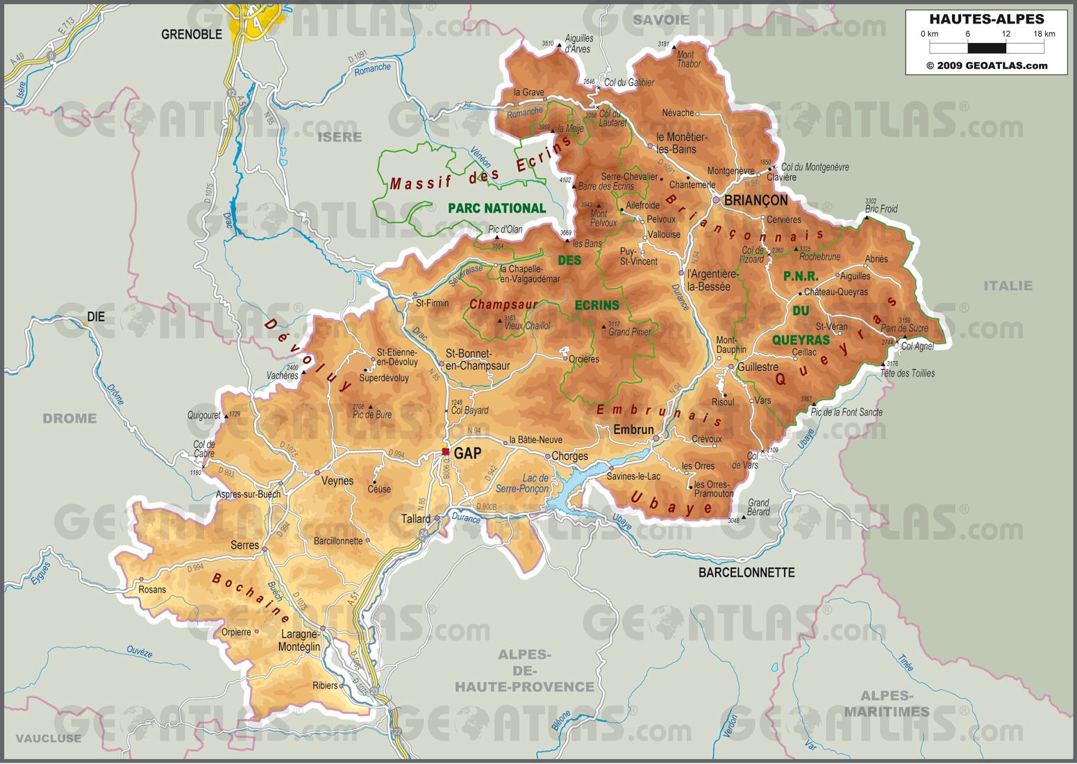 Hautes-Alpes carte