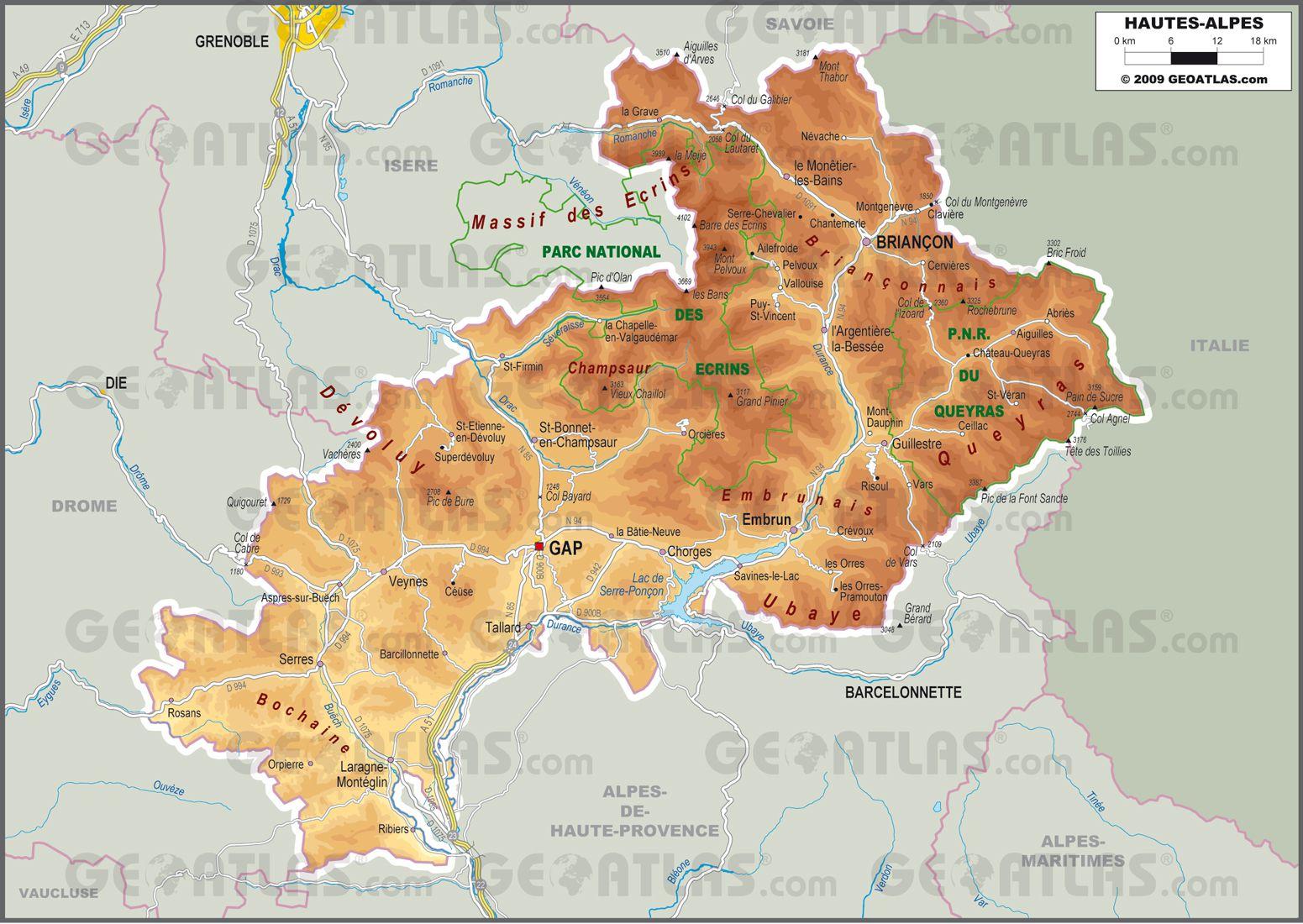 Photo of Carte des Hautes-Alpes