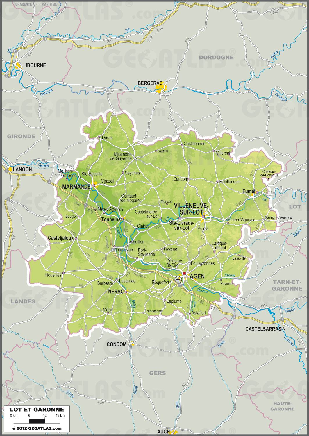 Lot-et-Garonne carte